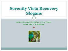 SlideShare Recovery Sayings - if you are in recovery, you'll love this series. https://www.serenityvista.com
