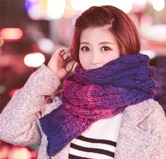 Kids Scarf Eiffe Tower Pink Muffler Winter Warm Gift For Youth