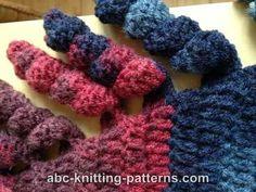 ABC Knitting Patterns - Small Sideways Shawl with Corkscrew Fringe