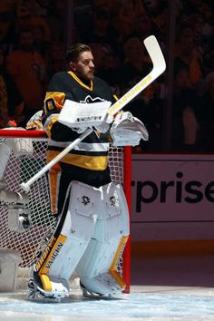MAY 16: Matt Murray #30 of the Pittsburgh Penguins looks on before the start of Game Two of the Eastern Conference Final against the Tampa Bay Lightning during the 2016 NHL Stanley Cup Playoffs at the Consol Energy Center on May 16, 2016 in Pittsburgh, Pennsylvania.