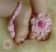 This lady has GREAT stuff on her etsy  Baby Sandals Baby Girl Barefoot Sandals Baby by SweetnessInSmyrna
