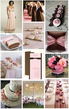 Pink & brown inspired wedding .