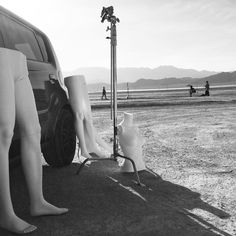 #SquareShooting on Location at the #DryLakeBeds for a fashion shoot