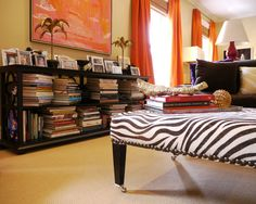 I have a thing for animal print.  Another reason why I love this room. #bold #zebra