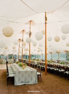 thinking of having the reception in a tent in my grandfathers field.. this would look gorgeous!