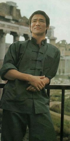 """guts-and-uppercuts: """" Bruce Lee on the set of """"Way of the Dragon"""" in Rome. """""""