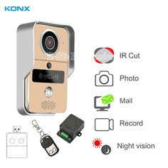 KONX Casa Intelligente 720 WiFi IP Video telefono del Portello citofono Campanello Wireless Sblocco Peephole Camera Viewer Campanello 220 V IOS Android