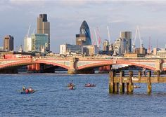 Take a trip on the love float with Kayaking London and see London in a new light Dating In London, Kayaking, My Dream, New York Skyline, England, Night, Building, Travel, Image