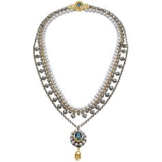 Mawi Sapphire & Gold Skull Pendant Necklace ($450) ❤ liked on Polyvore featuring jewelry, necklaces, gold necklace pendant, gold chain necklace, pendants & necklaces, sapphire necklace and yellow gold necklace