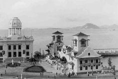 Área próxima à Praça XV, preparada para a Exposição Nacional de 1922.
