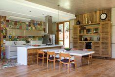 Observar armário de cozinha ripado Galeria - Casa ELJR / Skylab Arquitetos - 8