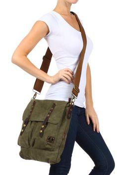 Vintage Inspired Canvas Shoulder Bag - Serbags - 8