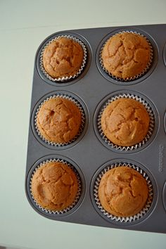 gluten free pumpkin cupcakes with cream cheese frosting -- great for Thanksgiving dessert!
