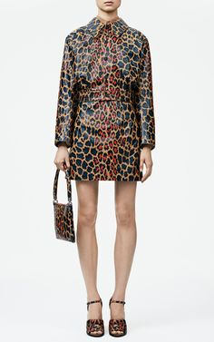 High Waisted Leopard Print Leather Skirt by Christopher Kane for Preorder on Moda Operandi