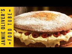 ▶ Super Simple Sponge Cake | Jamie Oliver - YouTube  I want this for my next birthday!