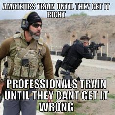 Amateurs train until they get it right, professionals train until they can't get it wrong #CostaLudus