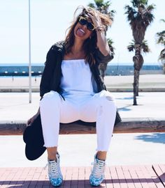 Huola from the blog holacuore.com wearing our Warm-Up #meyba #meybabarcelona #blogger #summer