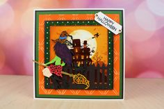 The great new Halloween Collection. For more information visit… Halloween 2, Halloween Cards, I Card, Card Ideas, Crafting, Easter, Lace, Happy, Projects