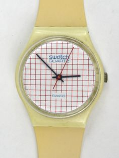 2e2c16b165a Items similar to Swatch Watch Mens TENNIS GRID Used in Box Vintage1983  Unisex Woman on Etsy