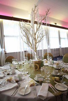 Centerpiece - Manzanita Branches with gem garland
