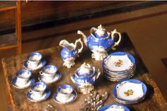 a Sevres tea service made in France around The rich turquoise porcelain and floral detailing in shades of blue and gold are hallmarks . Downton Abbey Fashion, Biltmore Estate, My Cup Of Tea, Tea Service, Historic Homes, Fine China, Tea Set, Tea Time, Christmas Bulbs