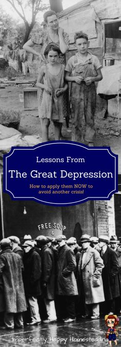 Lessons from The Great Depression. How you can apply the NOW to avoid another crisis.: