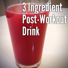 How to Make a Healthy 3 Ingredient Post- Workout Drink