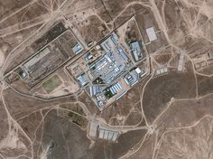 """Satellite imagery of """"the Salt Pit,"""" codename for a clandestine CIA prison and interrogation center north of Kabul, Afghanistan, December 11, 2014"""