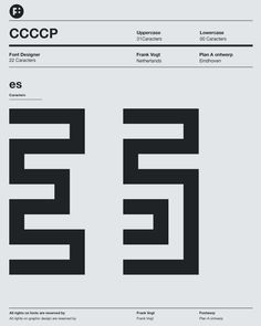 CCCP typeface by Frank Vogt for Fontwerp Typefoundry