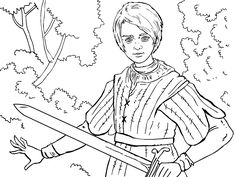 Game of Thrones Colouring in Page Ygritte
