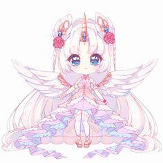 L Anime, Cute Anime Chibi, Kawaii Chibi, Kawaii Art, Cute Animal Drawings Kawaii, Cute Little Drawings, Cute Drawings, Cute Kawaii Girl, Kawaii Anime Girl