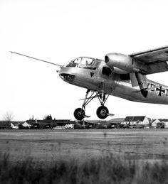 the Dornier Do 29 experimental short takeoff and landing aircraft, circa 1958 (via)