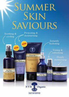Summer skin saviours. us.nyrorganic.com/shop/carrierigsby