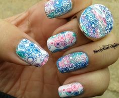 Crazy Stamping Nail Art. Cool!