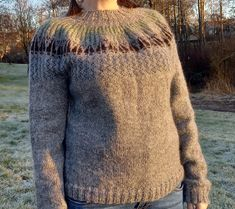 The design is called Jakt, which is Norwegian for the English word Hunt. Both the colours and motifs are chosen from outdoor life themes. The sweater is knitted bottom up, and with yoke. Ribbing is used for edges. The fit is meant to be loose. If adjusting the length of the sleeves or body, remember it will affect the amount of yarn. Outdoor Life, Aud, Men Sweater, Colours, Knitting, Sleeves, Pattern, Sweaters, English