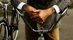 Visual Inspiration for the Modern Man Cycle Chic, Bike Style, Beard Tattoo, Modern Man, Tattoo Models, Stylish Men, Beautiful Men, Gentleman, How To Look Better