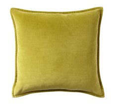 Washed Velvet Absinthe Pillow Cover | Pottery Barn