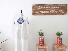 Head Offices – Ancient Kallos :: Hellas Resort Wear Resort Wear, Ladder Decor, Offices, Showroom, How To Wear, Branding, Home Decor, Style, Homemade Home Decor