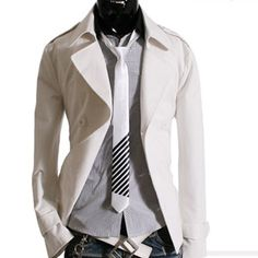 White Trench Coat  www.jhlstyle.com