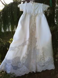 ee6baf8b3c62 Custom Made Christening Dress from a Wedding Gown Baby Christening Outfit, Baptism  Gown, Christening