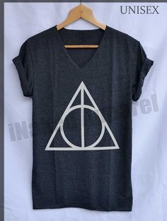 Deathly Hallows Normal Symbols Shirt Harry Potter by iNakedapparel