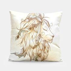 Poetic Lion , Live Heroes #art #loujah #liveheroes #throwpillows #homedecor #coussin #boho #bohemian