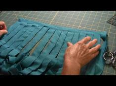 See how to make a Circle Rag Rug out of sheets. This video show you how to get started and teaches you a formula to keep your circle smooth, flat and even.