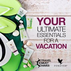 Forever Travel Kit Anywhere you go, you can take Forever! Take Forever wherever you go in and experience your new favorite personal care products convenient travel sizes. Forever Living Aloe Vera, Forever Aloe, Forever Bright Toothgel, Jojoba Shampoo, Health And Beauty, Health And Wellness, Aloe Berry Nectar, Forever Freedom, Forever Travel
