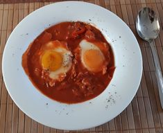 Eggs, Breakfast, Ethnic Recipes, Food, Morning Coffee, Egg, Essen, Yemek, Morning Breakfast