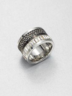 Michael Kors - Barrel Ring/Silvertone - Saks.com