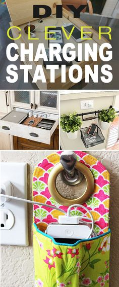 DIY Clever Charging Stations! • Try these do it yourself clever charging station projects so the whole family can not only keep track of their tech in a central place, but keep everything ready to go, all charged up! Just another modern day organization solution. Diy Simple, Easy Diy, Craft Projects, Projects To Try, Craft Tutorials, Craft Ideas, Diy Inspiration, Diy Headboards, Diy Room Decor