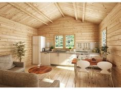 Tiny House Cabin, Tiny House Living, Tiny House Plans, Cabin Homes, Small Cabin Interiors, Wooden Cabins, Small House Design, Little Houses, House In The Woods