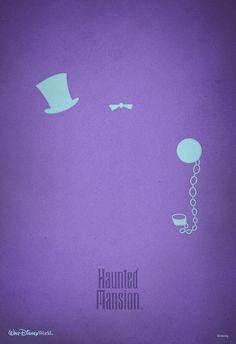 Haunted Mansion ~ Walt Disney World Haunted Mansion Disney, Disney Girls, Disney Love, Disney Stuff, Disney Magic, Disney Disney, Disney Minimalist, Minimalist Poster, Disneyland California