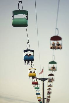 colourful cable cars